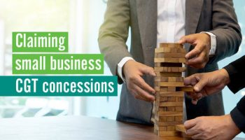 Claiming small business CGT concessions